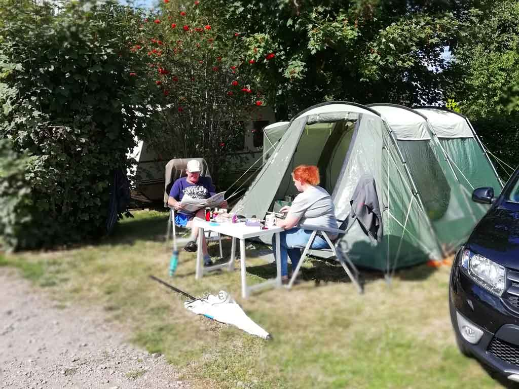 emplacement camping tente veules les roses