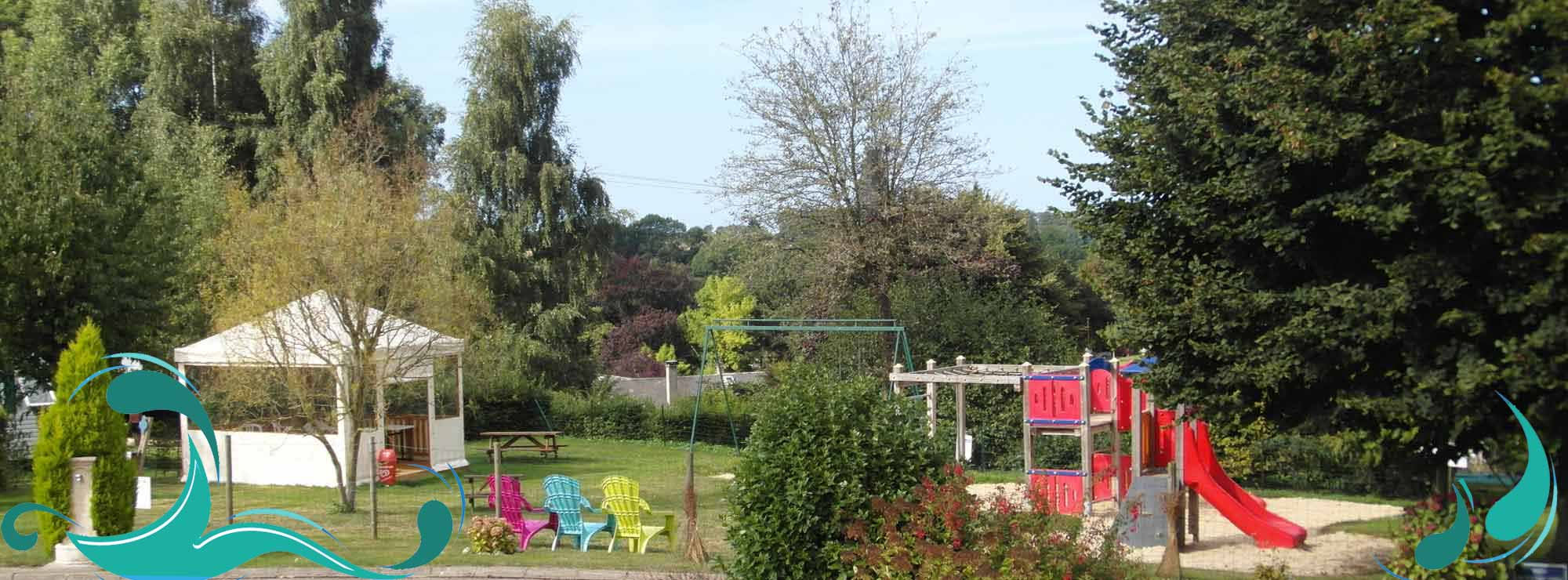 camping veules sur rose